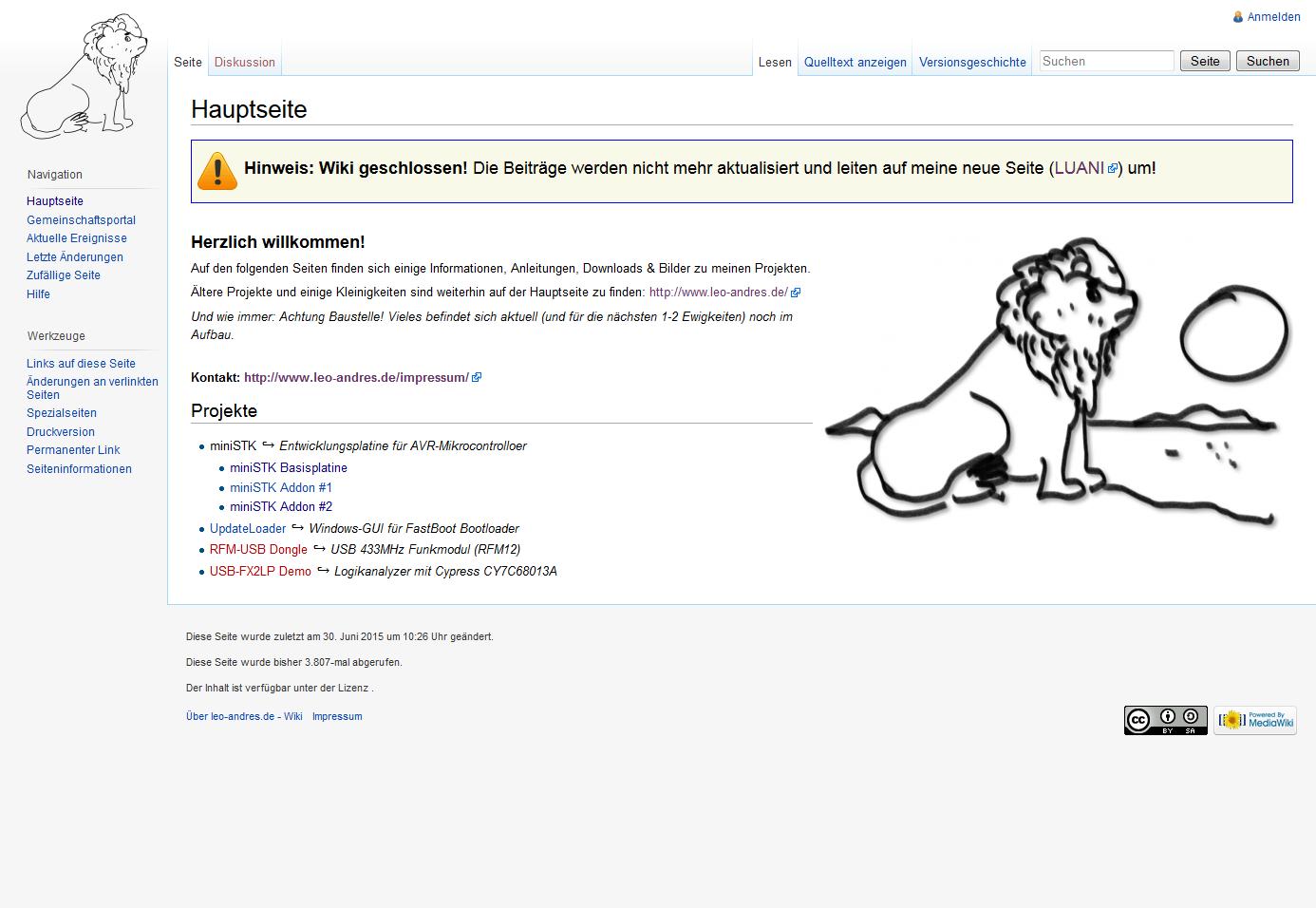 Altes Wiki geschlossen. Tschüß, bis bald?
