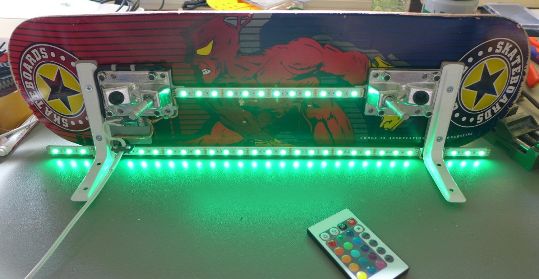 µProjekt: Skateboard-Regal mit RGB Unterbodenbeleuchtung 🎥