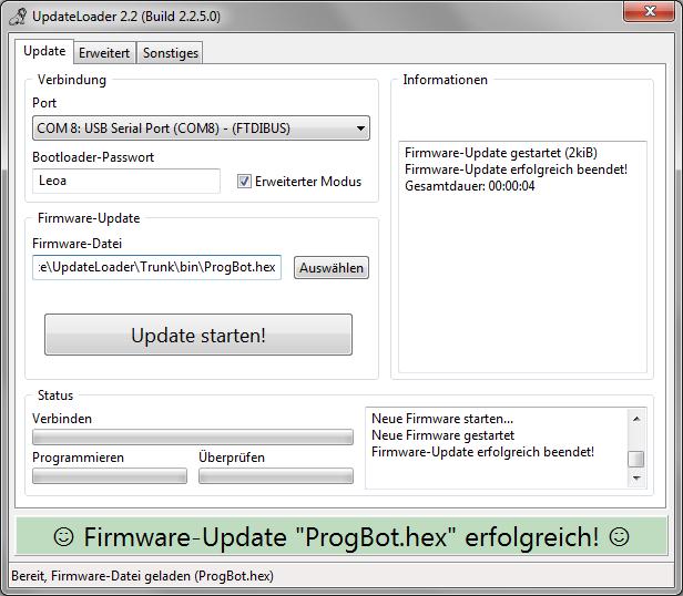 UpdateLoader Version 2.2.5 Ankündigung 💾