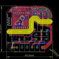 ESP8266 I/O Maße & Layout